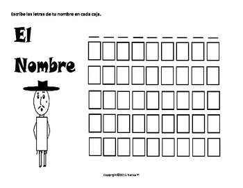 Writing Your Name Handwriting Name Practice  Name Boxes Nombre Hombre