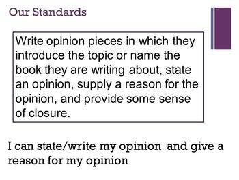 Writing Your Opinion -- Introduction