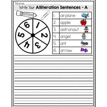 Writing Your Own Alliteration Sentences