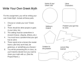 writing your own greek myth presentation by queen s lessons tpt