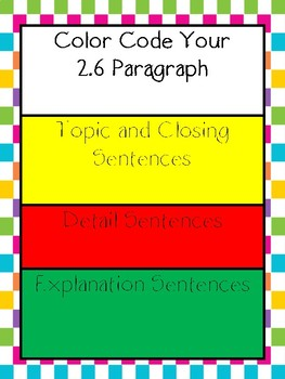 Writing a 2.6 Paragraph