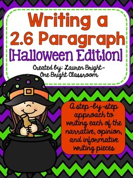 Writing a 2.6 Paragraph {Halloween Edition}