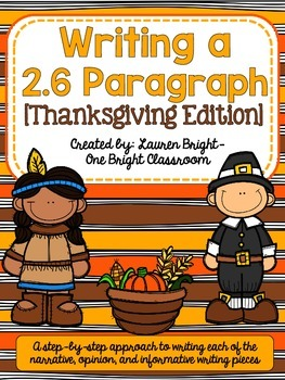 Writing a 2.6 Paragraph {Thanksgiving Edition}
