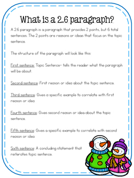 Writing a 2.6 Paragraph {Winter Edition}