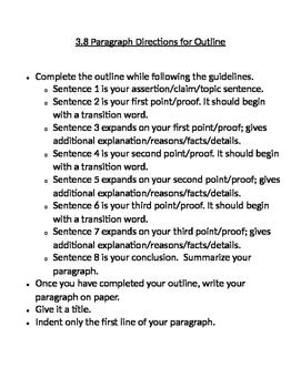 Writing a 3.8 Paragrpah