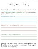 5 Paragraph Essay Writing Templates