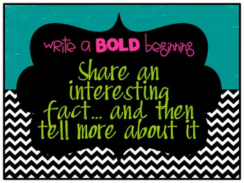 Writing a BOLD Beginning