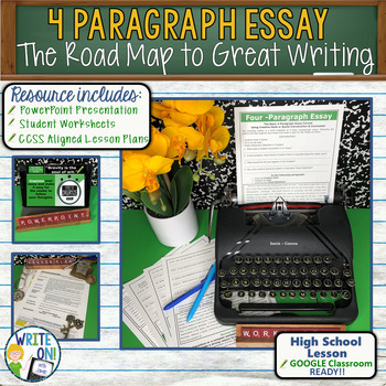 4 PARAGRAPH ESSAY - Introduction to Writing - High School