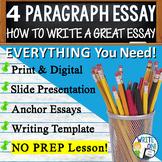 Four Paragraph Essay | How to Write a 4 Paragraph Essay | Print and Digital