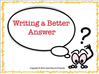 Writing a Better Answer