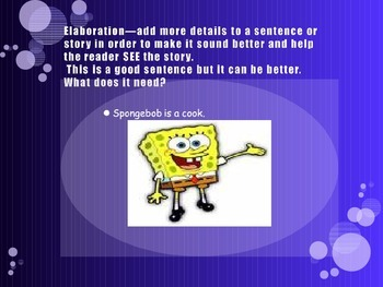 Writing a Better Sentence powerpoint using Spongebob Squarepants