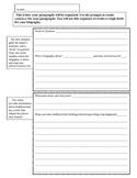 Writing a Biography: Graphic Organizer with Prompts