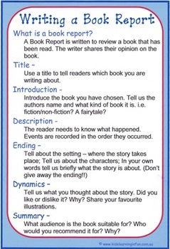 Writing A Book Report Cheat Sheet By Kids Learning Is Fun Tpt