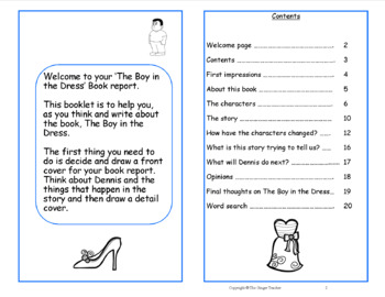 Writing a Book Report; Complete Lesson  – The Boy in the Dress
