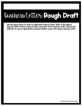 Writing a Business Letter