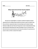 Writing a Business Letter and Poetry/ Song Lyric Assignment