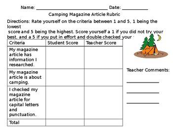 Writing a Camping Magazine Article