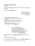 Writing a Catalog Poem