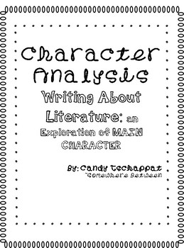 Writing a Character Analysis