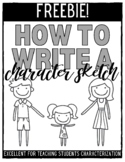 Writing a Character Sketch (Any novel or story)