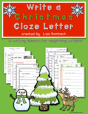 Write a Christmas Letter a differentiated lesson for beginning writers