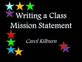 Writing a Class Mission Statement