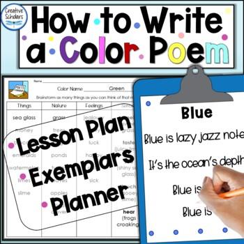Writing a Color Poem Lesson Plan