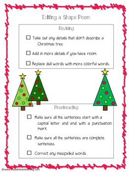 Writing a Complete Christmas Tree Shape Poem - Start to Finish