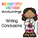 Writing a Conclusion (Scientific Method Practice Page)
