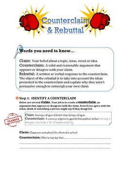 Writing a Counterclaim and Rebuttal