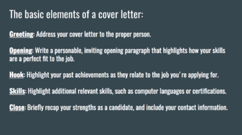 Writing a Cover Letter with Templates
