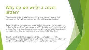 Writing A Covering Letter Powerpoint
