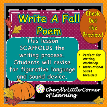 Writing a Fall Poem with Imagery Fall Word Cards