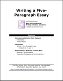 Writing a Five-Paragraph Essay