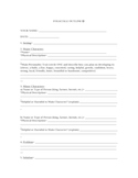 Writing a Folktale: Outline Sheet for High School Students