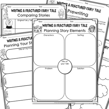 writing fractured fairy tales lapbook planning sheets by sunnydaze. Black Bedroom Furniture Sets. Home Design Ideas