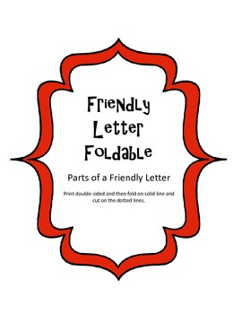 Writing a Friendly Letter Foldable