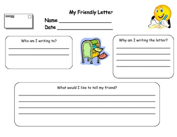 Writing a Friendly Letter Graphic Organizer