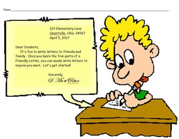 Writing a Friendly Letter:  Practice and Assessment