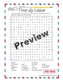 Writing a Friendly Letter Word Search