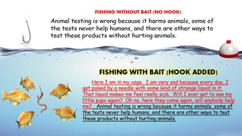 Writing Hooks - Fishing For A Hook Activity (POWERPOINT VERSION)