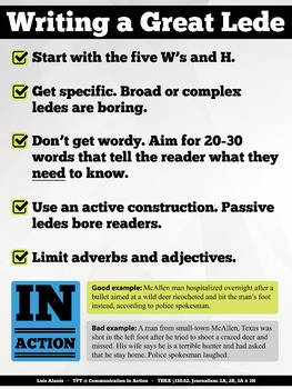 Writing a Great News Lede - 18X24 Poster