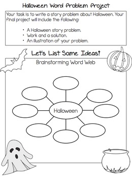 Halloween/Autumn Math Writing Project for Elementary of Middle School Math