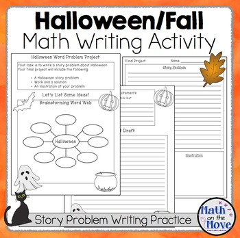 Halloween/Autumn Math Writing Project for Elementary of Mi