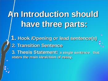 Writing a Hook Powerpoint AQQS
