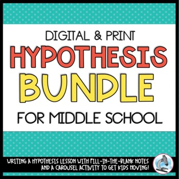 hypothesis lesson plan middle school