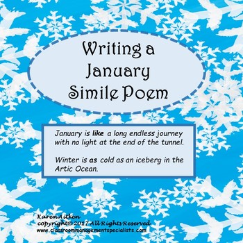 Simile Poem Teaching Resources Teachers Pay Teachers