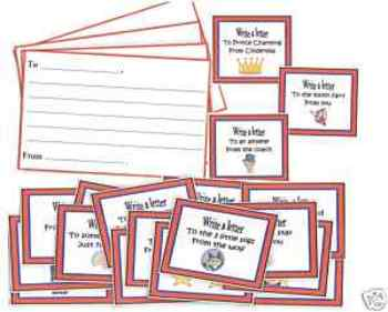 Writing a Letter Cards
