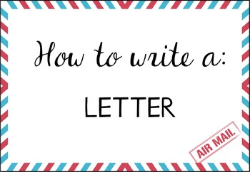 Writing a Letter {Posters, Labels and Rubric}