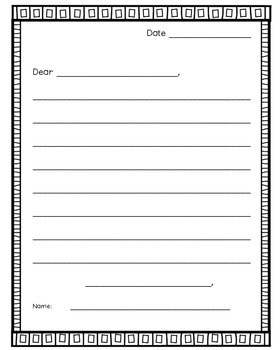 Writing a Letter (Prompts and Templates)